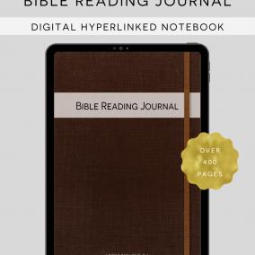 DIGITAL Hyperlinked JW Bible Reading Study Journal – Bible Reading Log – Goodnotes, Zoomnotes, Xodo, Notability, Etc.
