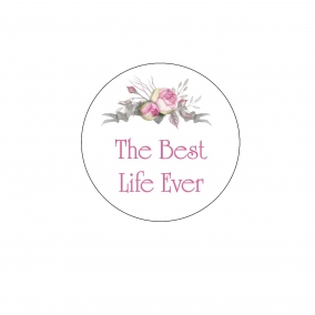 Floral Best Life Ever Sticker