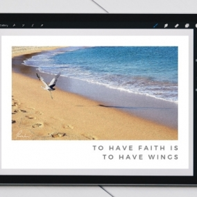 To Have Faith is to Have Wings – Digital Card