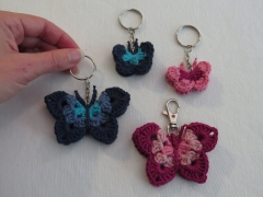 Colorful butterfly keychain. Size small.