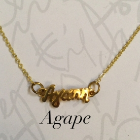 Agape necklace in golden tone