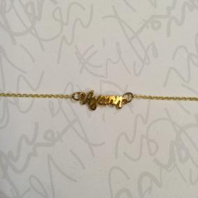 Agape bracelet in golden tone