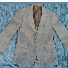 Mens Vintage Harris Tweed Scottish Wool Blazer
