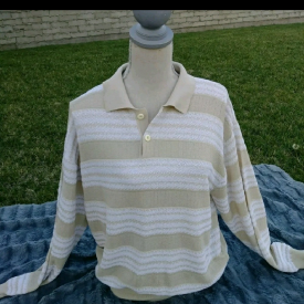 Mens VTG jack Taylor Hollywood stripped sweater