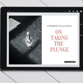 Congratulations on Taking The Plunge Digital Postcard