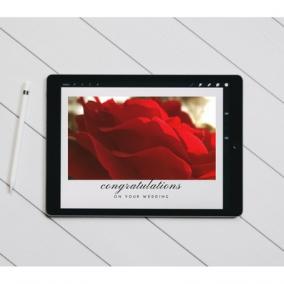 Wedding or Anniversary Congratulations Digital Postcard