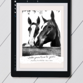 Horse Wisdom Digital Postcard