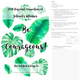 Digital Download Notebook- 2018 Regional Convention. Be Courageous