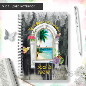 World That Is New Notebook   Floral/Window  5 x 7 [DN01]