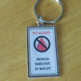 No Blood Keyring
