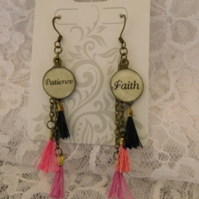 Patience/Faith Tassel Earrings