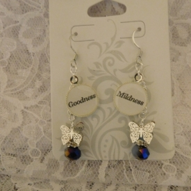 Goodness/Mildness Silver Earrings