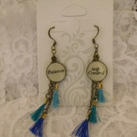 Patince/Self-Control Tassel Earrings
