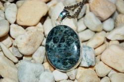 Green Stromatolite Kambaba Jasper Pendant 2″