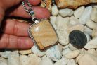 Earthy Picture Jasper Brownish Cream Pendant 2″