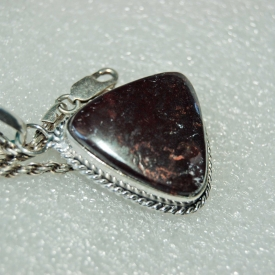 Golden Brown w Speck Agate Pendant 1 1/2″