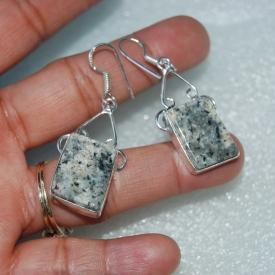 A Pair of Dendritic Earrings 2″