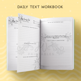 Daily Text Notebook F - JWPrintables