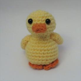 Amigurumi duck.