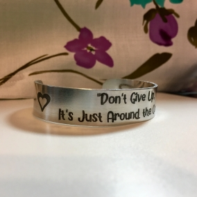 Aluminum Bracelet Encouraging Words