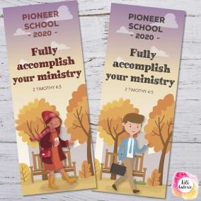 2 Bookmarks for Pioneer School – Printable file