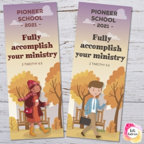 2 Bookmarks for Pioneer School – Printable file