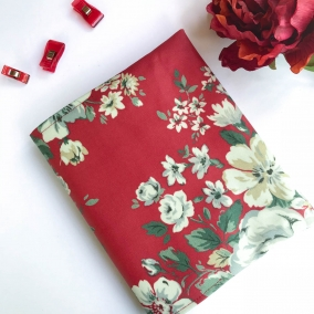 Beautiful NWT Cath Kidston Oilcloth Bible Cover – Dark Red with Off White Flowers – FREE SHIPPING ON ALL ITEMS!