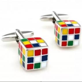 Rubik cube Cufflinks