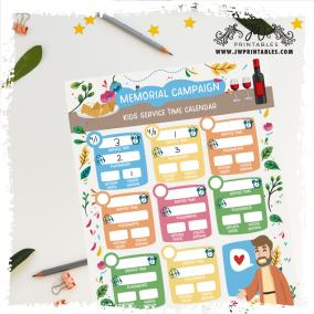 Kids Memorial Campaign Tracker | Editable | JW Printables
