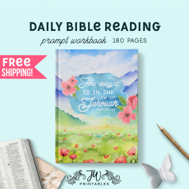 Daily Bible Reading Notebook [ 180 Pgs ] Feminine | Best Life Ever – Pioneer Gifts – JW Gifts – Bible Reading Workbook