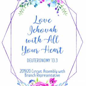 """PRINT AT HOME """"Love Jehovah with all Your Heart"""" Branch Rep flower pdf"""