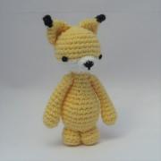 Amigurumi fox, cute crochet animal.