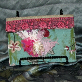 Small Clutch or Phone Pouch with Shabby Chic Glamour