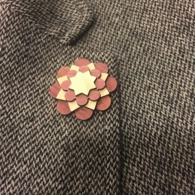 Red Cedar and Maple Wooden Flower Lapel