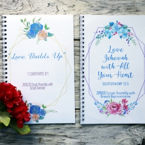 Spiral Bound 2019/2020 Assembly Notebooks Love Jehovah with all you Heart – Love Builds Up (Flower Version)