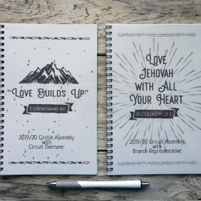 Spiral Bound 2019/2020 Assembly Notebooks Love Jehovah with all you Heart – Love Builds Up (Regular Version)
