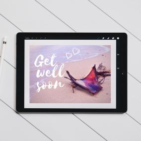 Get Well Soon Beach Scene – Digital Card