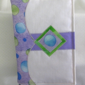 Fabric Bible Cover with Ribbon Bookmark – Fits Standard NWT