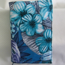 Fabric Bible Cover, Floral, Beautiful Blues and Purple Island Beauty, Gift Idea, Fits Standard (NWT)