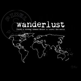 World Map Art | Wanderlust Quote | Black and White Map | Map of the World | Minimalist Map Art