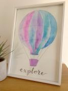 """Hot Air Balloon """"Explore"""""""