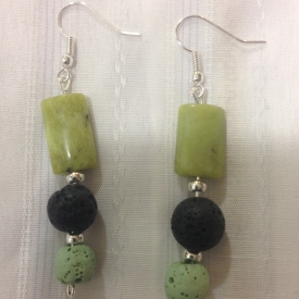 Nephrite (Jade) Earrings