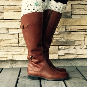 Aspen Boot Cuffs with Scalloped Edge