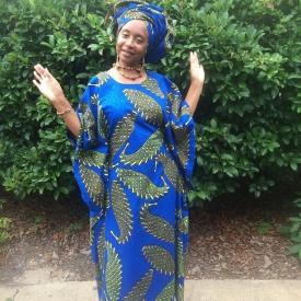 Zuri (Beautiful) Petite African Kaftan with Headwrap KE116 (Copy)