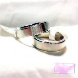Stainless steel Name Rings
