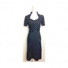 1940's style polkadot dress