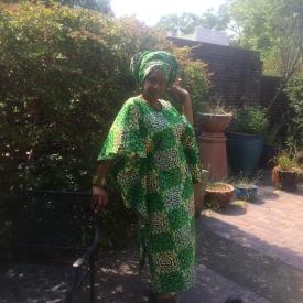 Sheena (Jehovah's Gift) Petite African Kaftan Ensemble KE117