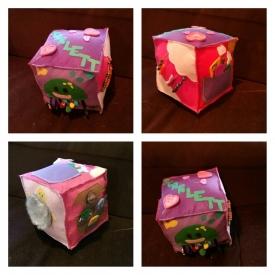 Child's felt activity cube