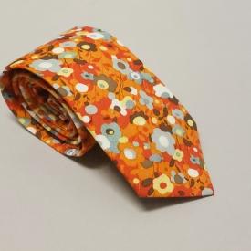 Floral tie – tangerine