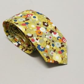 Floral tie – avocado